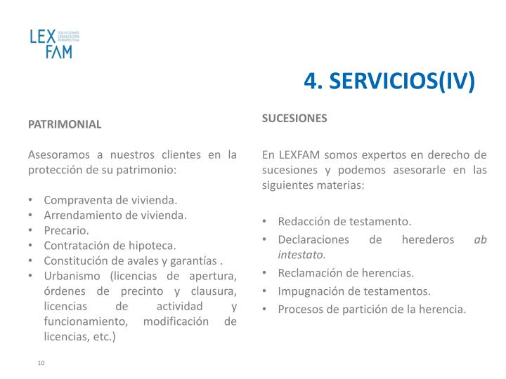 4. SERVICIOS(IV)