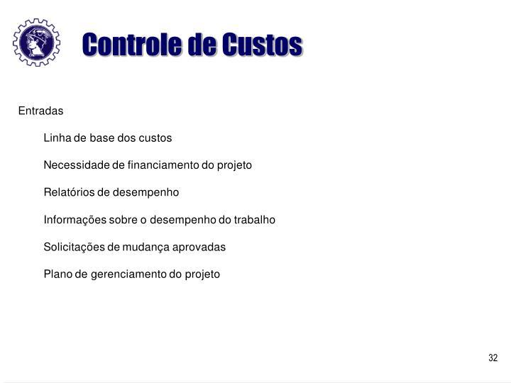Controle de Custos