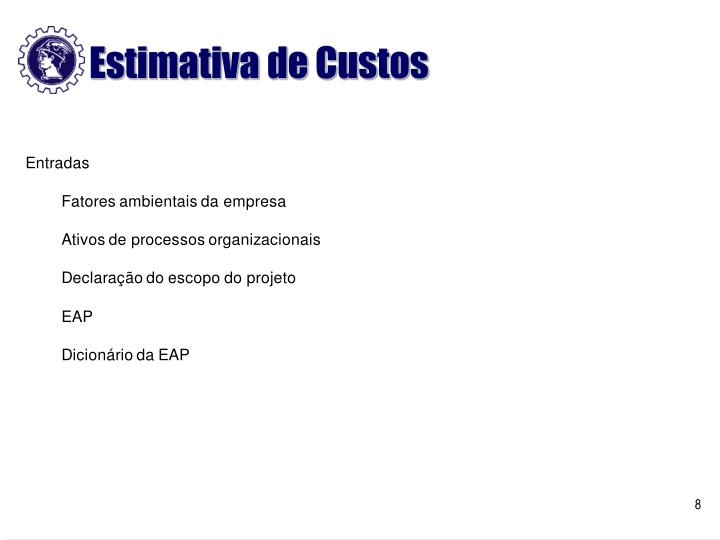 Estimativa de Custos