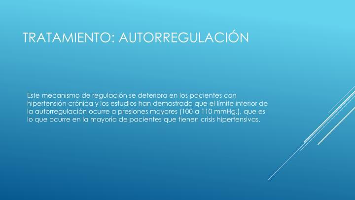 Tratamiento: autorregulación