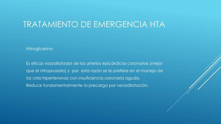 Tratamiento de emergencia hta