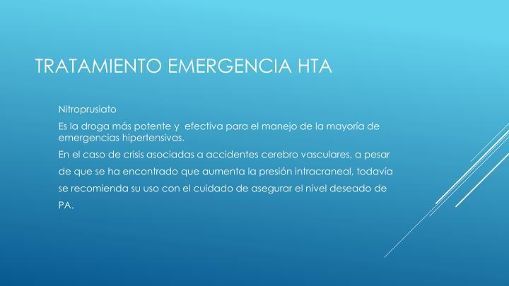 Tratamiento emergencia hta