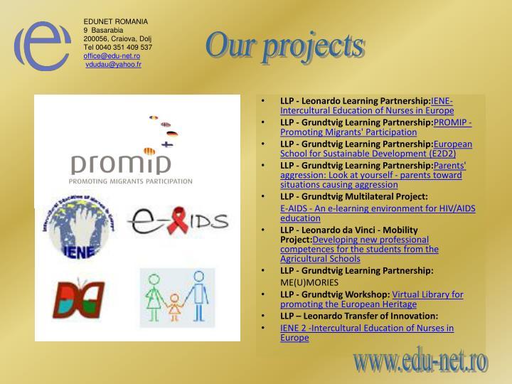 LLP - Leonardo Learning Partnership: