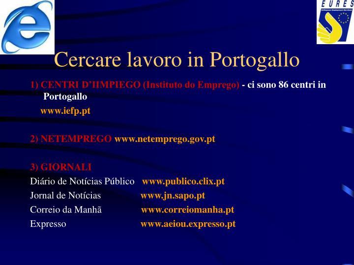 Cercare lavoro in Portogallo