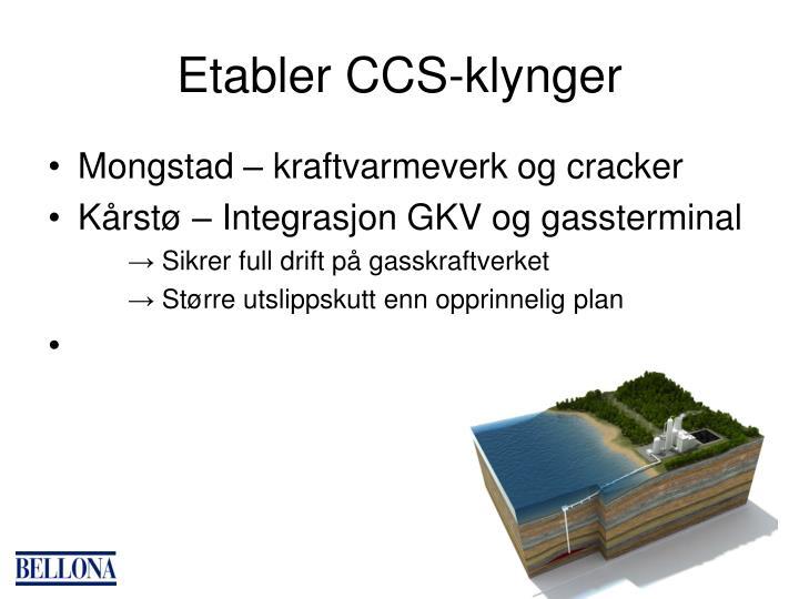 Etabler CCS-klynger