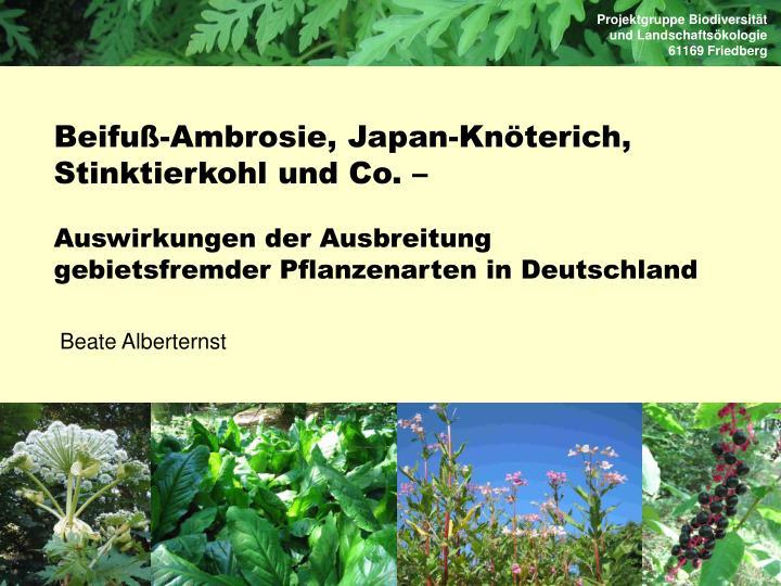 Projektgruppe Biodiversität