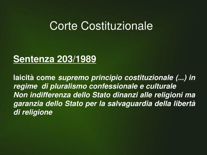 Sentenza 203/1989