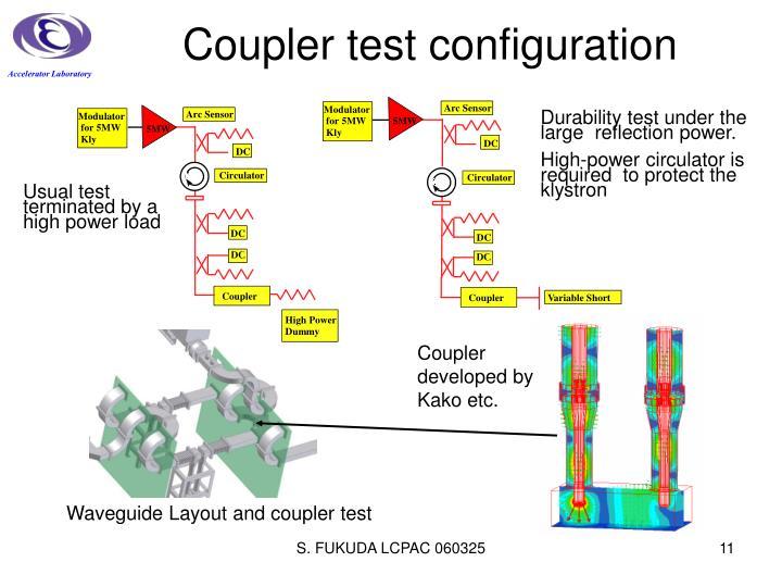Coupler test configuration