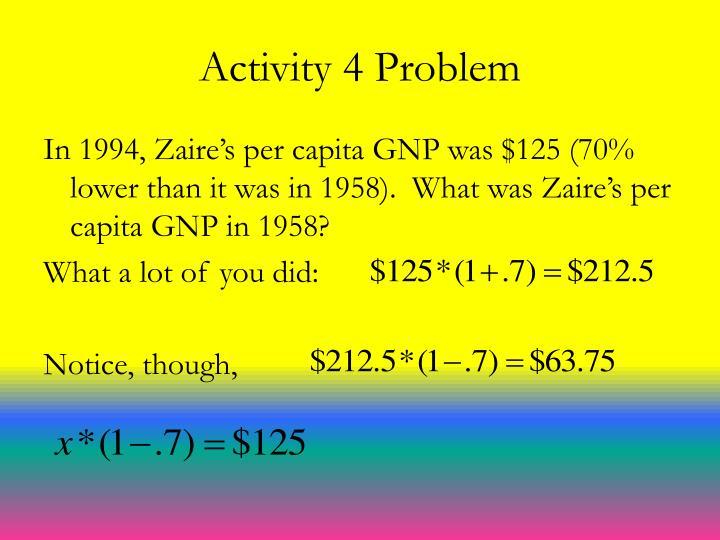 Activity 4 Problem