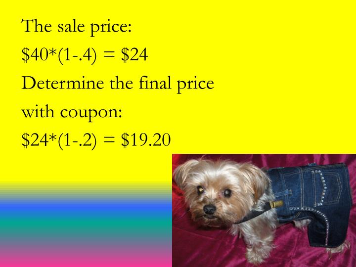 The sale price: