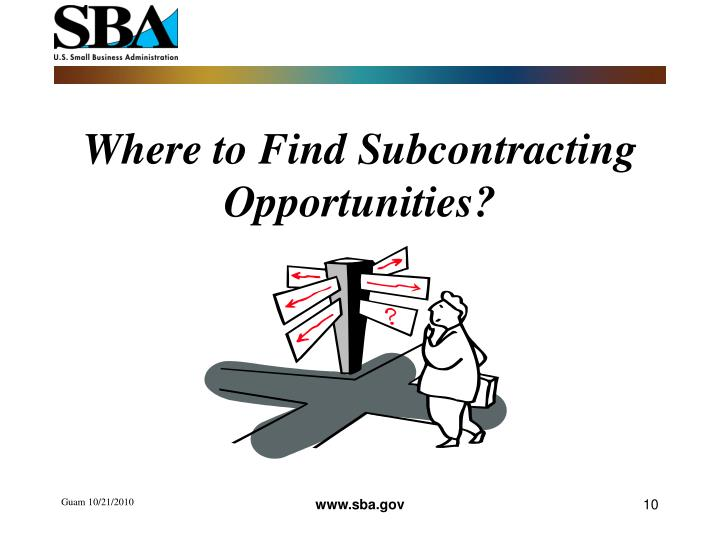 Ppt subcontracting opportunities presented by ms Find subcontracting work