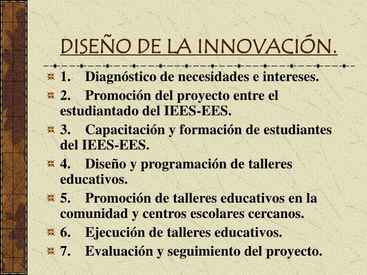 DISEÑO DE LA INNOVACIÓN.