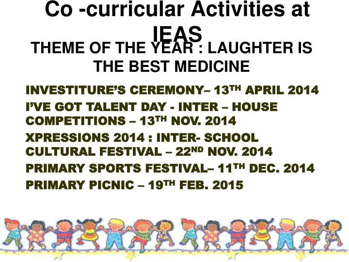 Co -curricular Activities at IEAS