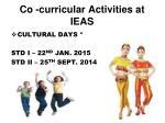 co curricular activities at ieas1