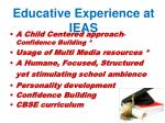 educative experience at ieas