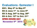 evaluations semester i