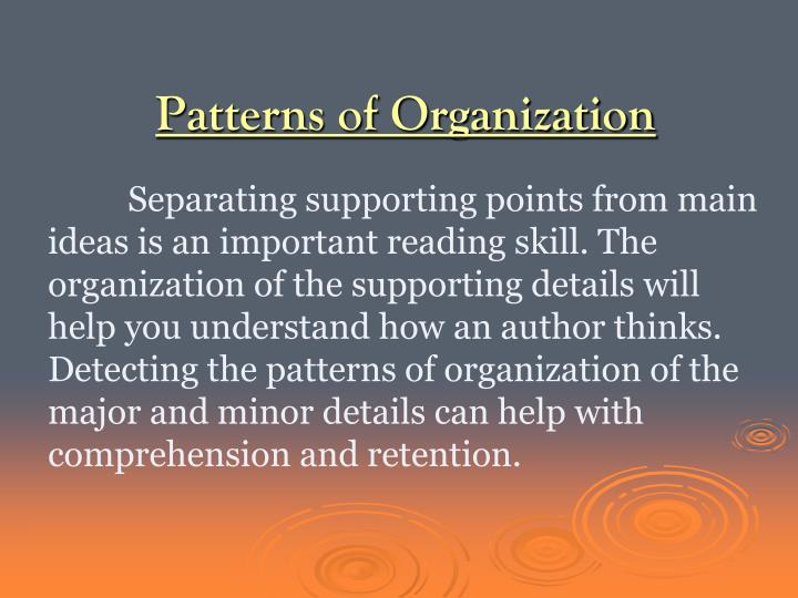common patterns of essay organization