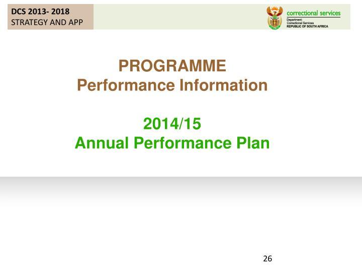 DCS 2013- 2018