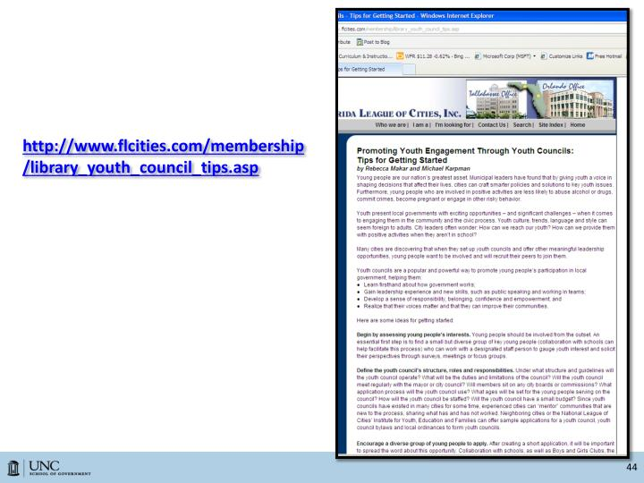 http://www.flcities.com/membership/library_youth_council_tips.asp