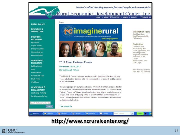 http://www.ncruralcenter.org/