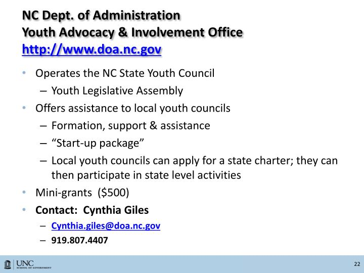 NC Dept. of Administration