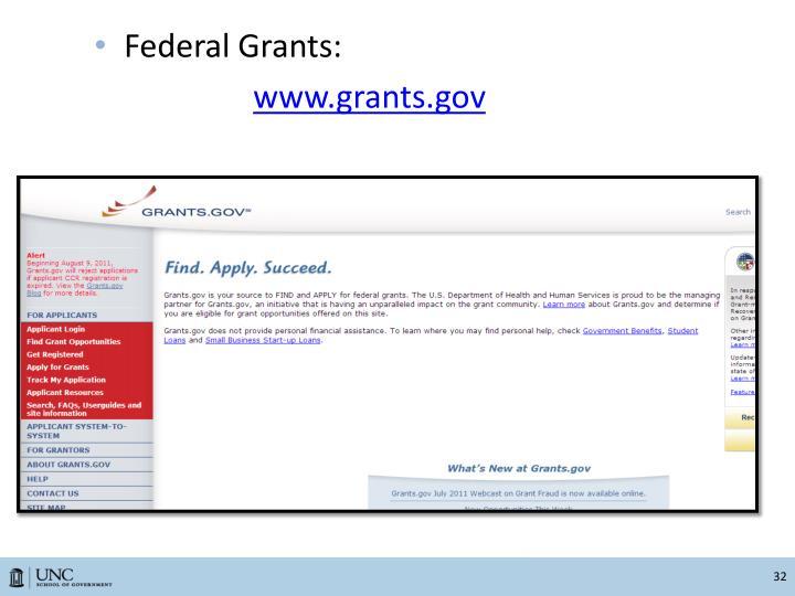 Federal Grants: