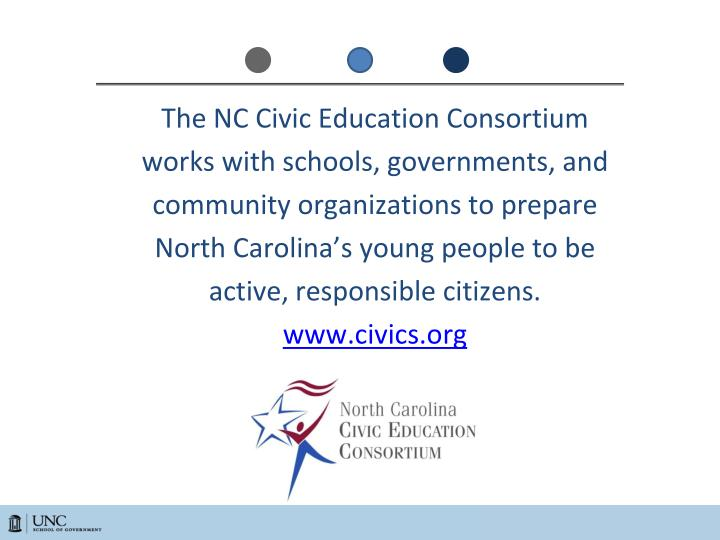 The NC Civic Education Consortium