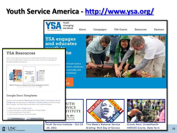 Youth Service America -