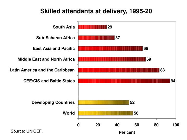 Skilled attendants at delivery, 1995-20