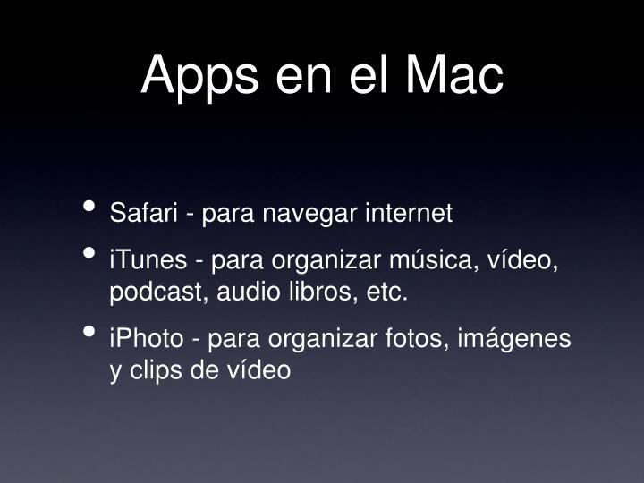 Apps en el Mac