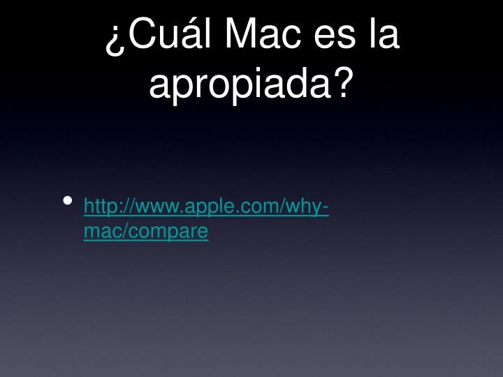 ¿Cuál Mac es la apropiada?