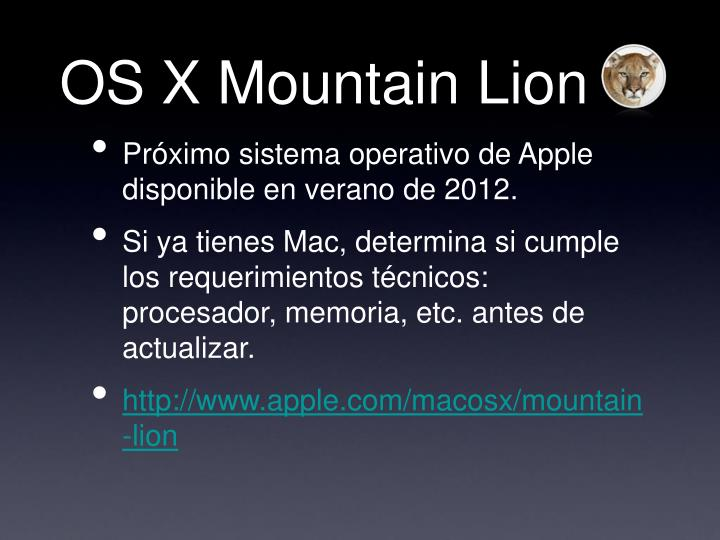 OS X Mountain Lion