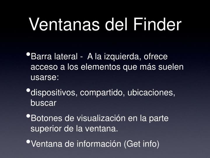 Ventanas del Finder