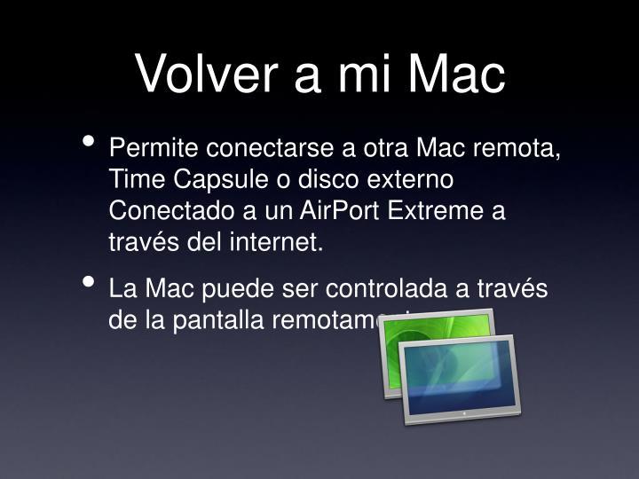 Volver a mi Mac