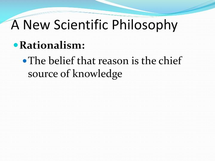 A New Scientific Philosophy