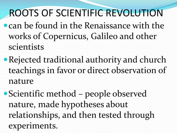 ROOTS OF SCIENTIFIC REVOLUTION