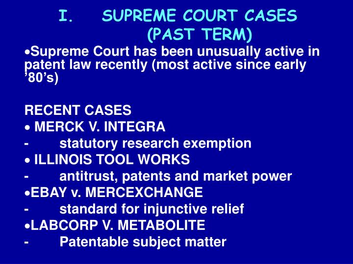 Supreme court cases past term