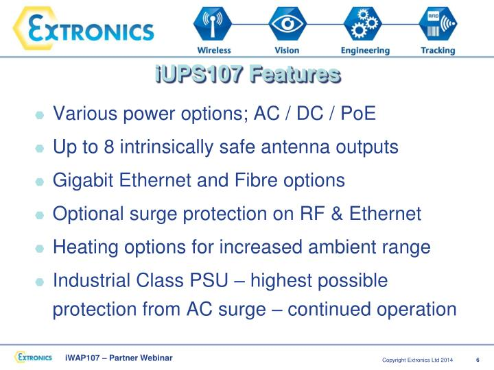 iUPS107 Features