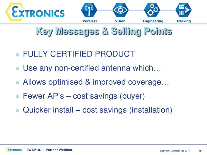 Key Messages & Selling Points