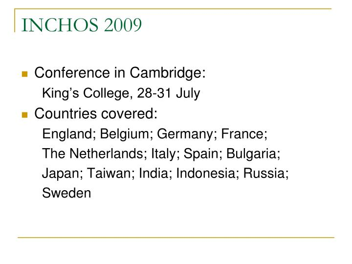 INCHOS 2009