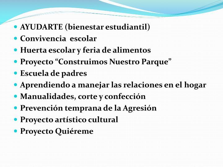 AYUDARTE (bienestar estudiantil)