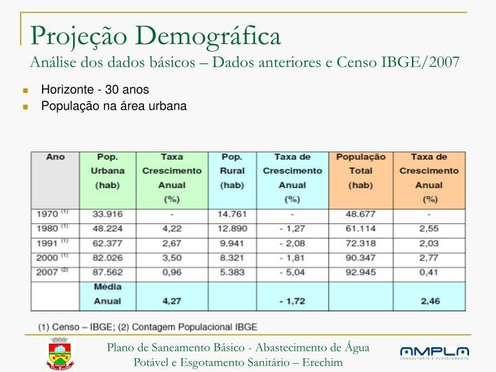 Projeção Demográfica