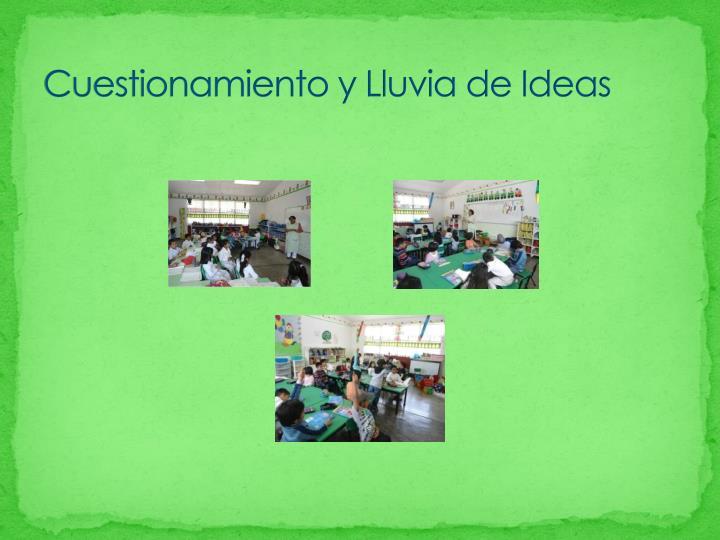 Cuestionamiento y Lluvia de Ideas