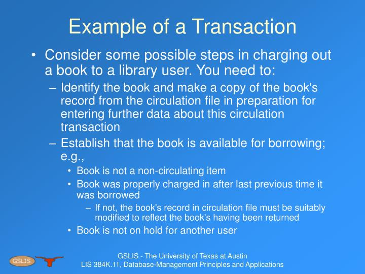 Example of a Transaction