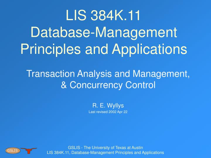 Lis 384k 11 database management principles and applications