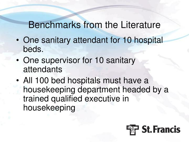 Benchmarks from the Literature