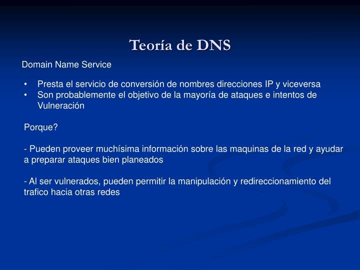 Teoría de DNS