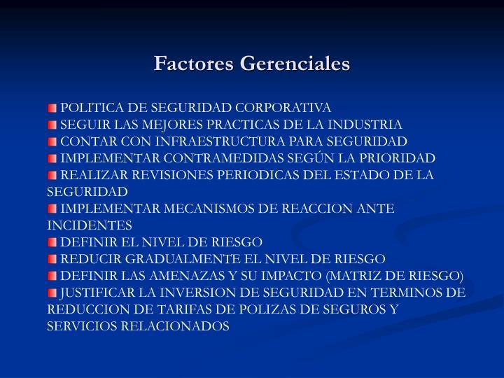 Factores Gerenciales