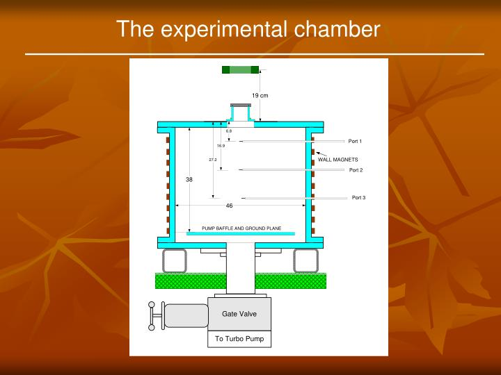 The experimental chamber