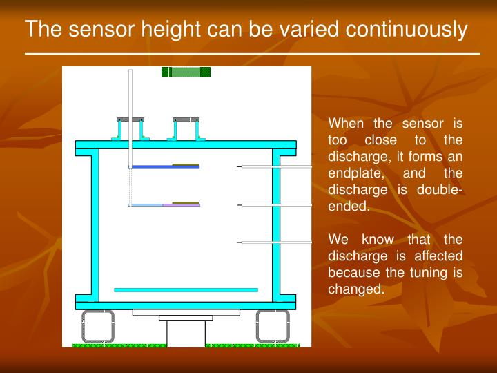 The sensor height can be varied continuously